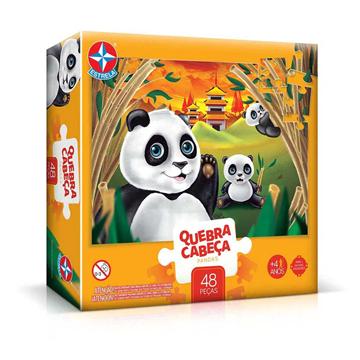 Imagem de Quebra-Cabeça Grandão Pandas 48 peças - Estrela