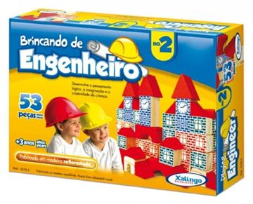 Imagem de Brincando de Engenheiro 53 Peças - Xalingo