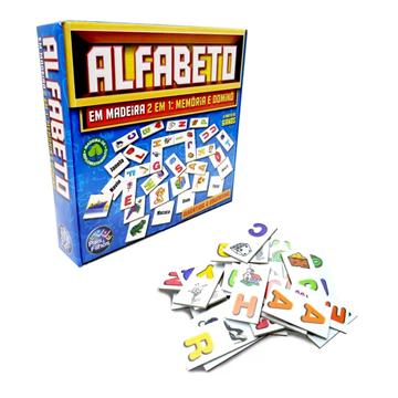 Imagem de Alfabeto 2 em 1 - Memória e Dominó - Pais e filhos