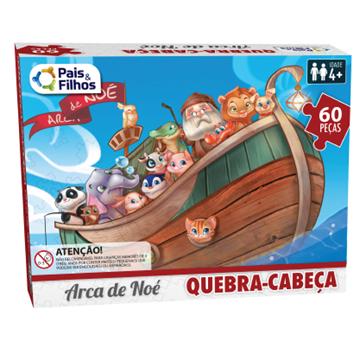 Imagem de Quebra-Cabeça Arca de Noé 60 Peças - Pais e Filhos