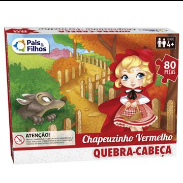 Imagem de Quebra-Cabeça Chapeuzinho Vermelho 80 peças - Pais e Filhos
