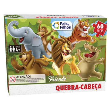 Imagem de Quebra-Cabeça 60 Peças - Pais e Filhos