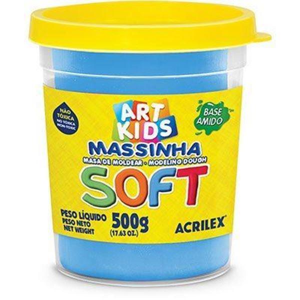 Imagem de Massa Modelar Soft 500g - Cor Azul 109