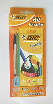 Imagem de Kit Escolar Lápis de Cor - 15 Unidades - Bic