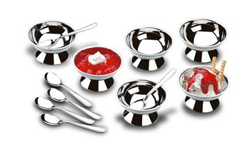 Imagem de Conjunto para Sorvete e Sobremesa 12 Peças - Jornata - Brinox