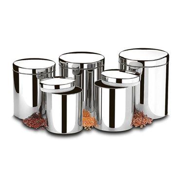 Imagem de Conjunto de Potes para Mantimentos 5 Peças - Suprema - Brinox