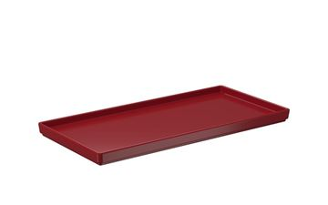Imagem de Prato Retangular - Vermelho Bold Uno - Coza