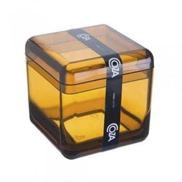 Imagem de Porta Algodão/Cotonete Cube - Mel - Coza