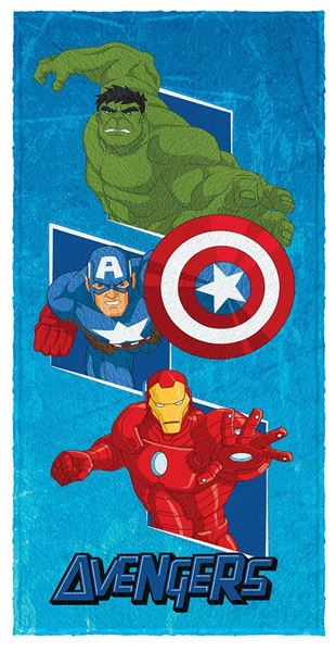 Imagem de Toalha Felpuda 60cm x 1,20m - Avengers