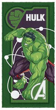 Imagem de Toalha Felpuda 60cm x 1,20m - Hulk