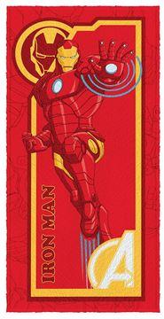 Imagem de Toalha Felpuda 60cm x 1,20m - Homem de Ferro