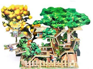 Imagem de Quebra-Cabeça 3D - Casa da Árvore - Chapeuzinho Vermelho