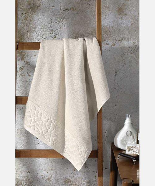 Imagem de Toalha de Banho 90cm x 150cm - Jacquard Confort FJ-6509 - Bege