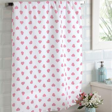 Imagem de Toalha de banho 70cm x 140cm - Prisma Formosa - Rosa