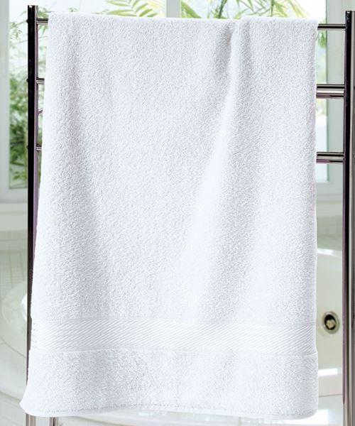 Imagem de Toalha de Banho 70cm x 140cm - Prisma Liso - Branca