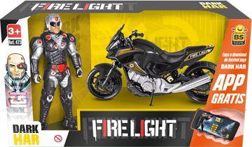 Imagem de Boneco Soldier Dark War com Moto - BS Toys