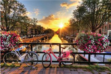 Imagem de Quebra-Cabeça Paisagens 500 Peças - Amsterdam