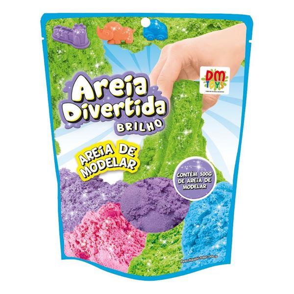 Imagem de Areia Divertida Brilho Refil 300g - DM Toys