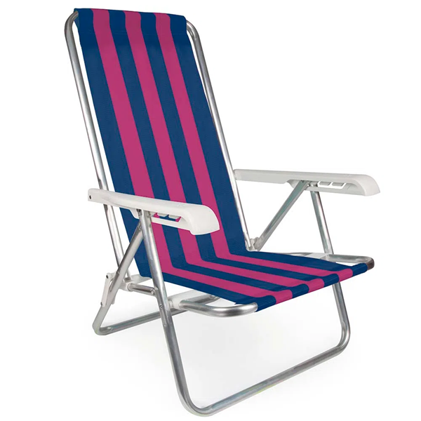 Imagem de Cadeira de Praia Reclinável Alumínio 4 Posições - Mor