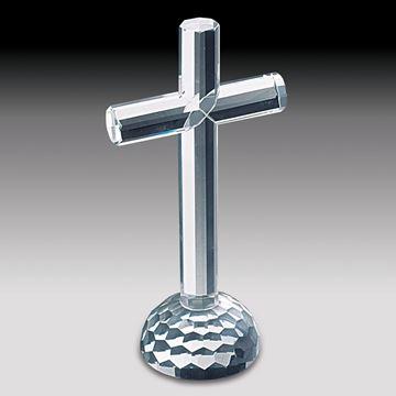 Imagem de Crucifixo de Cristal - 19cm
