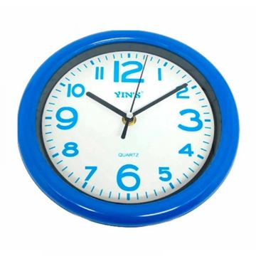 Imagem de Relógio de Parede Azul 20cm - Yin's