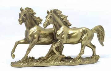 Imagem de Estátua Cavalo Dupla - Ouro