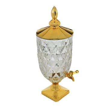 Imagem de Suqueira de Cristal Diamond Dourada 5L - Lyor