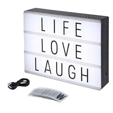 Imagem de Quadro Decorativo - Light Box Letras