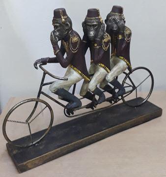 Imagem de Estatueta Trio de Macacos Bike - 32cm