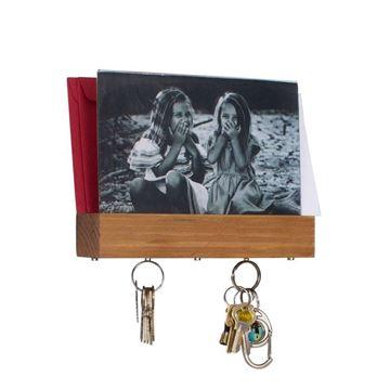 Imagem de Porta Chaves e Cartas com Porta Retrato Madeira - Geguton