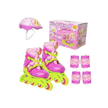 Imagem de Kit Patins Ajustável 37 a 40 - Belinda - DM Toys