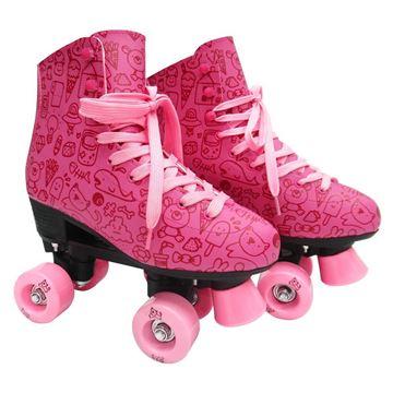 Imagem de Patins Roller Estilo New - Rosa - DM Toys