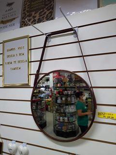 Imagem de Espelho Com Alça Ouro Velho/Marrom