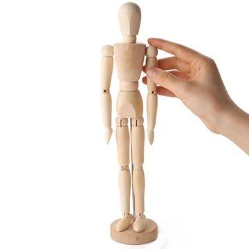 Imagem de Boneco de Madeira Articulado - 30cm