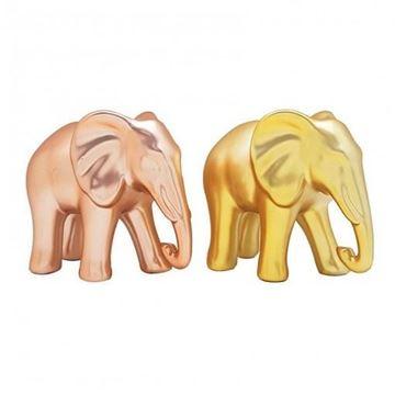 Imagem de Elefante Decorativo Ouro/Rosé