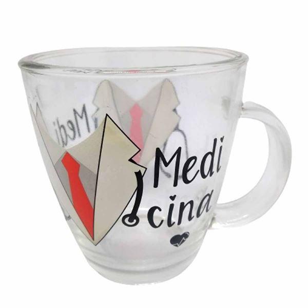 Imagem de Caneca de Vidro Profissões 380ml - Medicina
