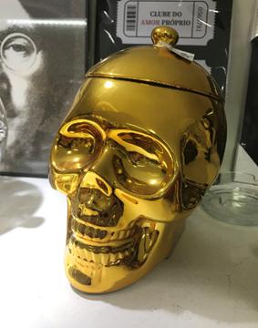 Imagem de Pote Skull Dourado - Urban