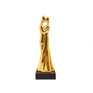 Imagem de Estatueta Casal 35cm - Ouro
