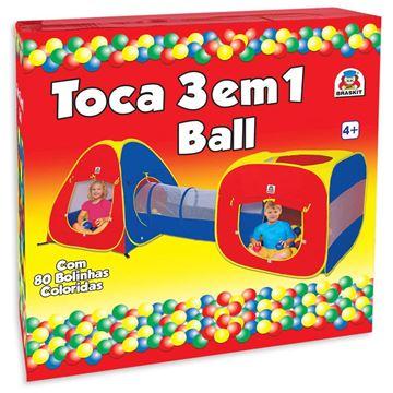 Imagem de Toca 3 em 1 Ball com 80 Bolinhas - Braskit