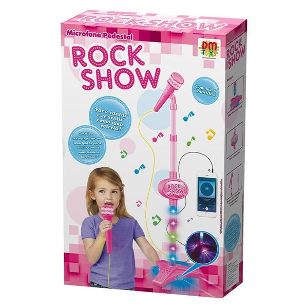 Imagem de Microfone Pedestal Rock Show Rosa - DM Toys