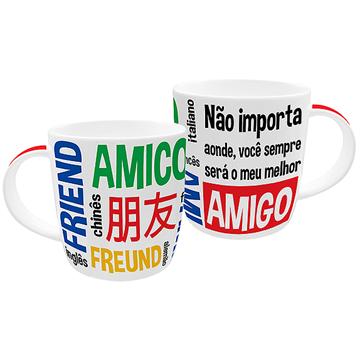 Imagem de Caneca Amigo Idiomas 320ml - DM Brasil