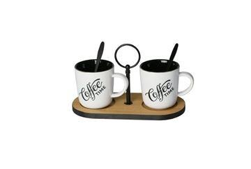 Imagem de Conjunto 2 Xícaras para Café 140ml e Suporte de Bambu - Lyor