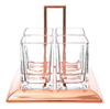 Imagem de Porta Talheres Cristal e Aço Inox Rose Gold Torcello - Wolff