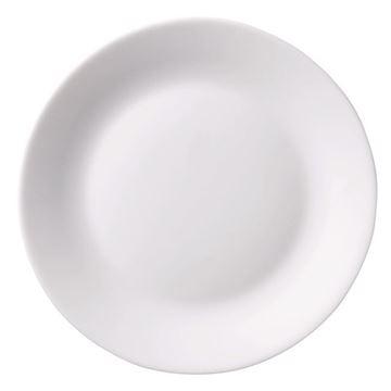 Imagem de Prato para Sobremesa de Vidro Branco - 19cm