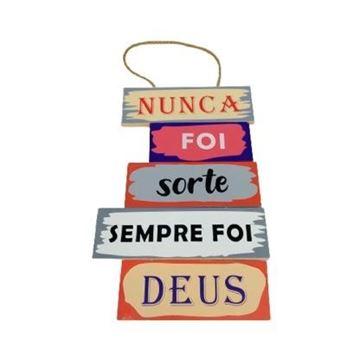 Imagem de Placa Decorativa de Madeira Mensagens - 29 x 18cm