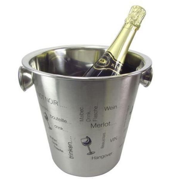 Imagem de Balde para Garrafa Estampa Vinho - Casita