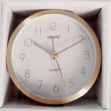 Imagem de Relógio de Mesa Dourado com Alarme 9cm - Yin's
