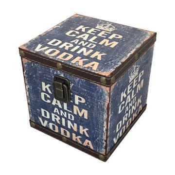 Imagem de Baú Keep Calm and Drink Vodka G - 25 x 25 x 25cm
