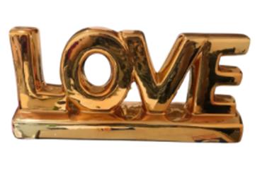 Imagem de Escultura Love Metalizado - 30cm