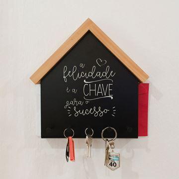 Imagem de Porta Chaves e Cartas Felicidade - Geguton